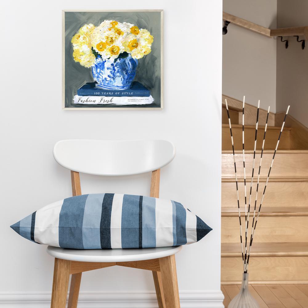 """16 in. x 16 in. """"Fashion Fresh Blue"""" By Wynwood Studio Canvas Wall Art"""