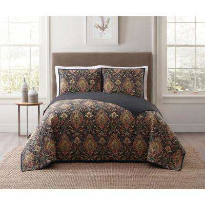 Cambridge Black Twin XL Quilt Set