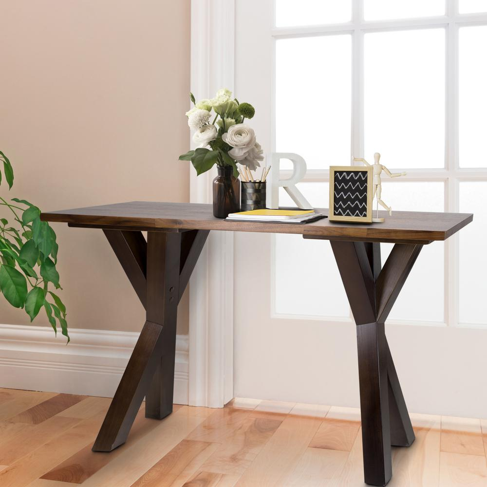 American trails ridgefield natural 1 in thick solid walnut wood american trails ridgefield natural 1 in thick solid walnut wood top console table 625 63 the home depot geotapseo Images