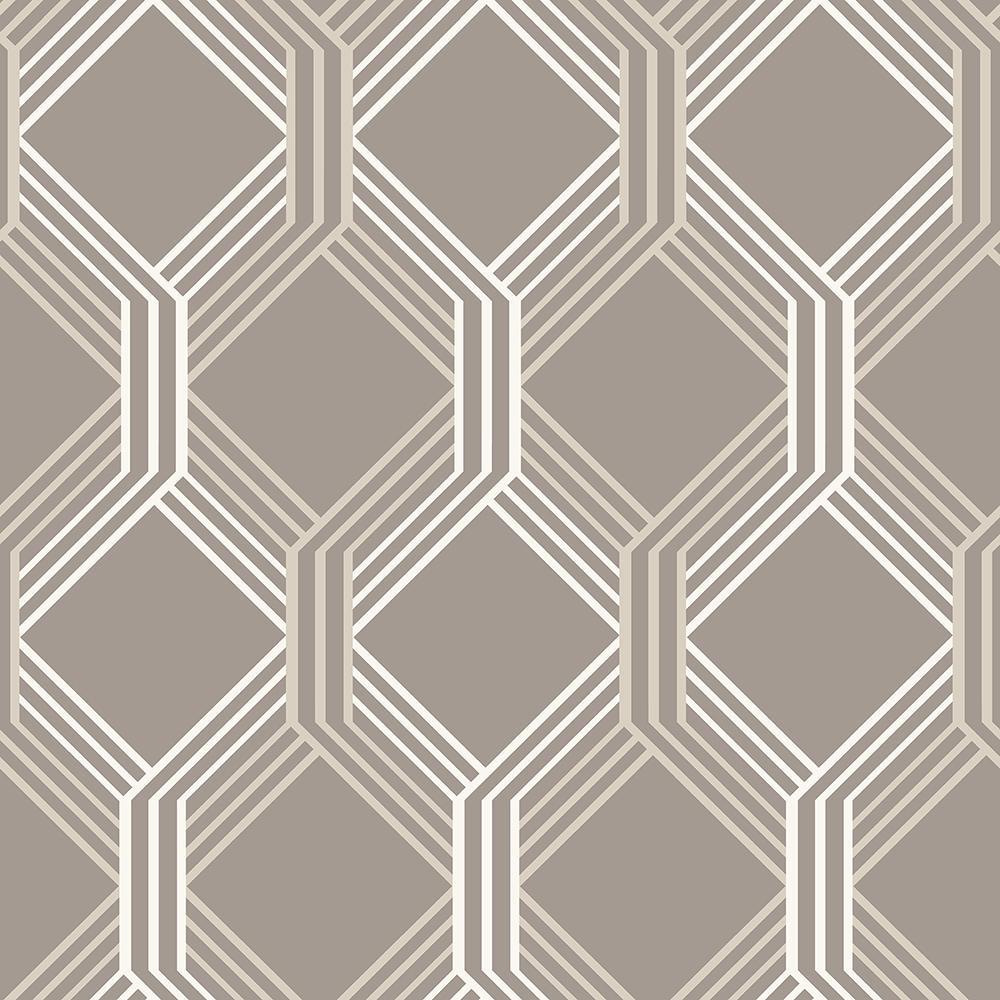 Neutral Trellis Wallpaper: Harira Red Moroccan Trellis Wallpaper-DL30618
