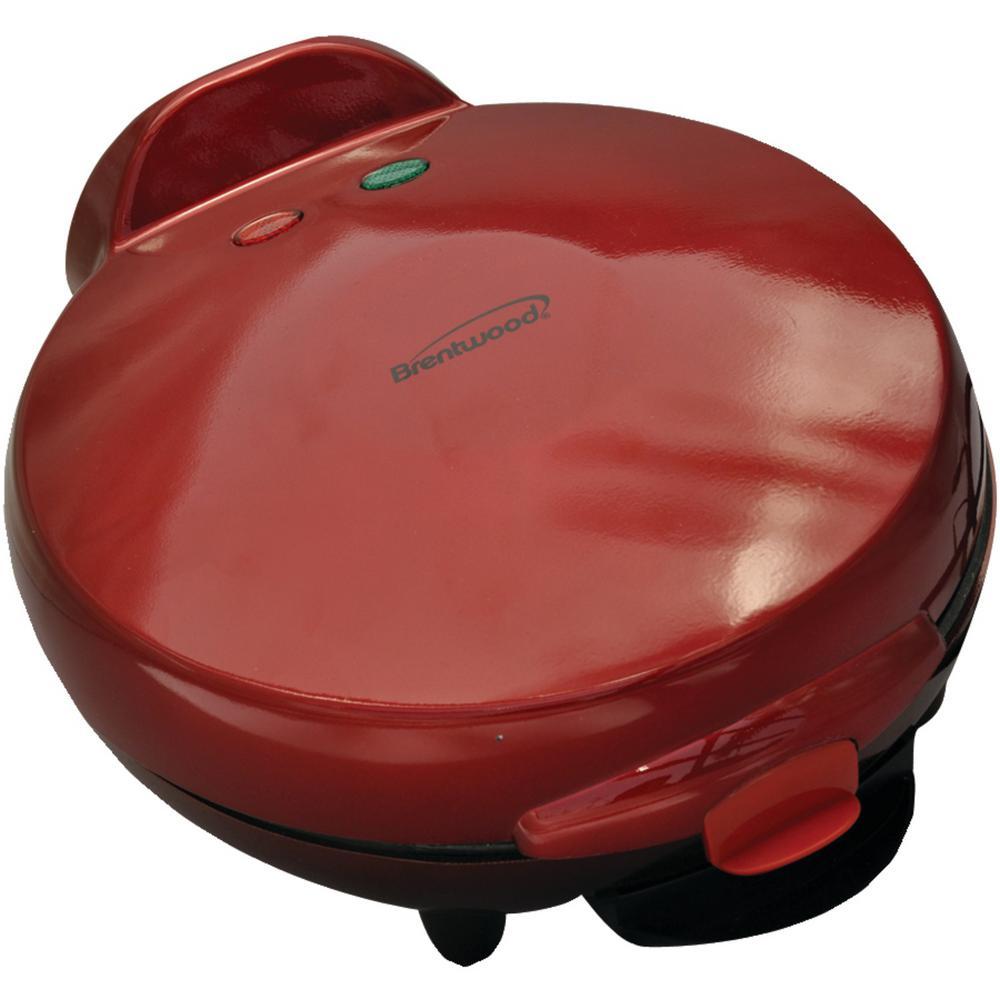 """900 W RED 8"""" Nonstick Quesadilla Maker"""