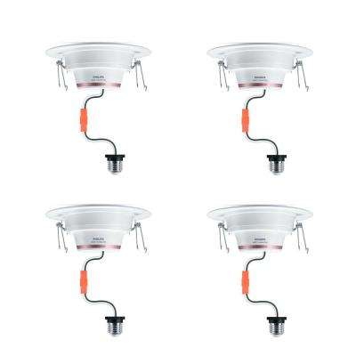 5/6 in. 65Watt Equivalent Color & Tunable White Dimmable Wi-Fi Wiz Connected Remodel Recessed Downlight LED Kit (4-Pack)