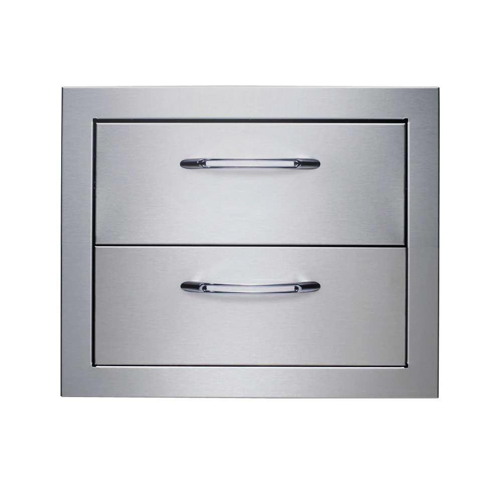 Precision Series Outdoor Kitchen Stainless Steel 2-Drawer System  sc 1 st  Home Depot : precision filing cabinet - Cheerinfomania.Com