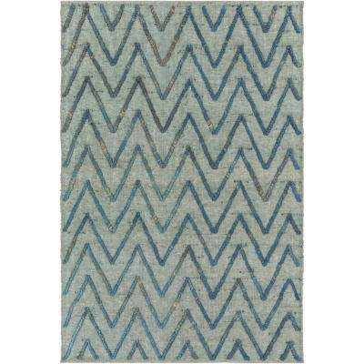 Aversa Teal 2 ft. x 3 ft. Area Rug