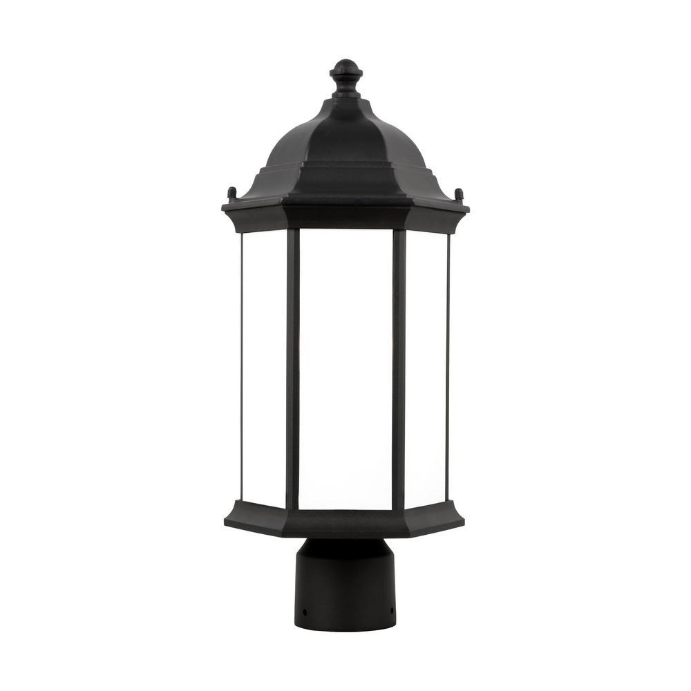 Sevier 1-Light Black Outdoor Post Lantern