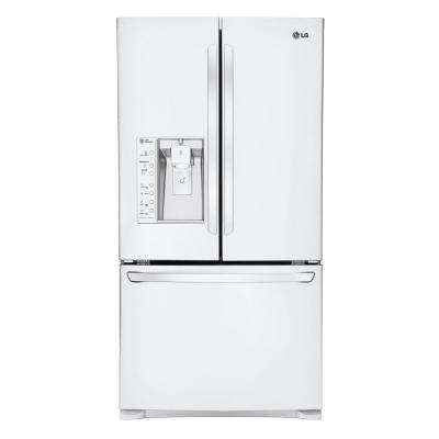 28.8 cu. ft. French Door Refrigerator in Smooth White with Dual Ice Makers