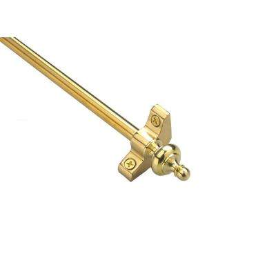 Select Collection Tubular 28.5 in. x 3/8 in. Polished Brass Finish Stair Rod Set with Urn Finials