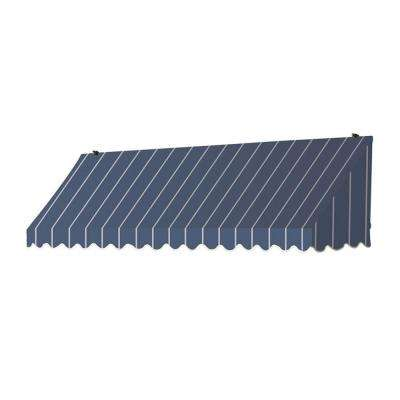 8 ft. Traditional Manually Retractable Awning (26.5 in. Projection) in Tuxedo