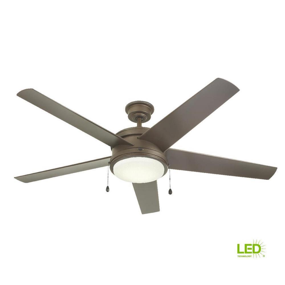 Portwood 60 in. LED Outdoor Espresso Bronze Ceiling Fan
