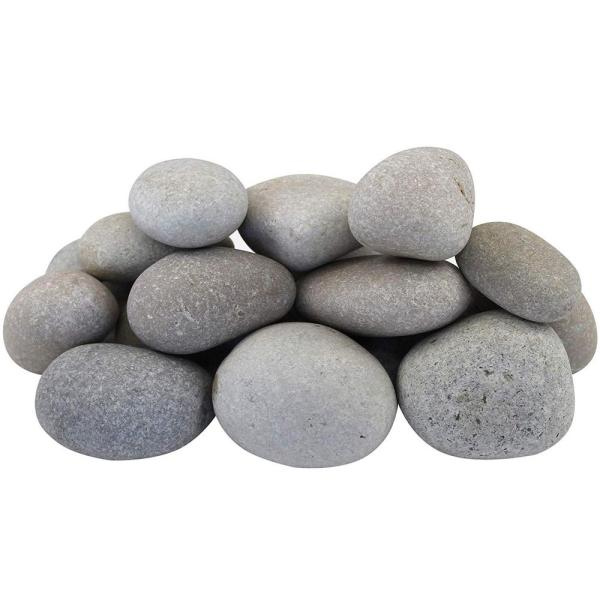 21.6 cu. ft. 1 in. to 3 in. 1620 lbs. Light Grey and Tan Beach Pebbles