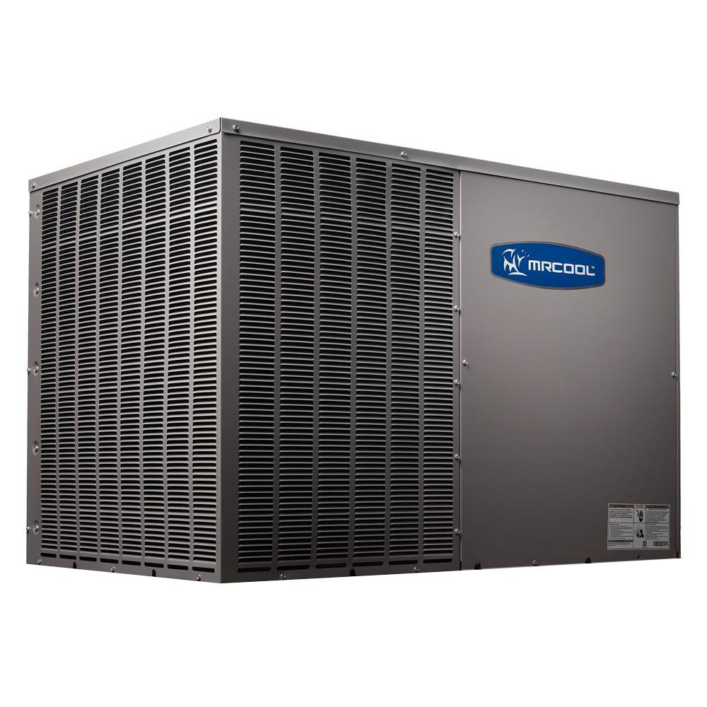 mrcool diy 3 5 ton 42 000 btu 14 5 seer r 410a horizontal package air conditioner and heat pump. Black Bedroom Furniture Sets. Home Design Ideas