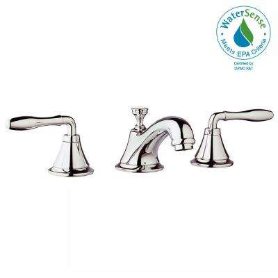 Widespread 2-Handle Low-Arc Bathroom Faucet in Polished Nickel