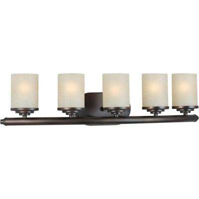 Oralee 5-Light Antique Bronze Bath Vanity Light
