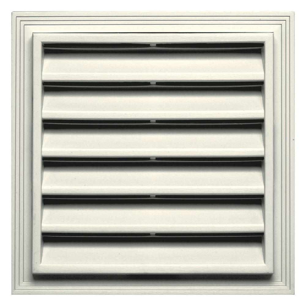 12 in. x 12 in. Square Gable Vent in Parchment