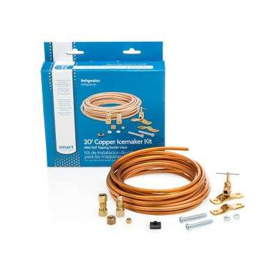 20 ft. Copper Ice Maker Kit with Self Tapping Saddle Valve
