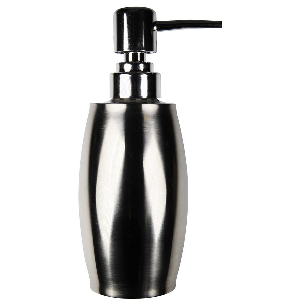 Mirror Finish Metal 12 oz. Countertop Soap Dispenser