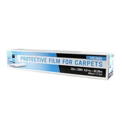 24 in. x 200 ft. 2-mil Protective Film for Carpets