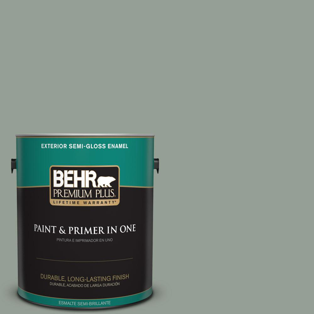 1-gal. #N400-4 Forest Path Semi-Gloss Enamel Exterior Paint