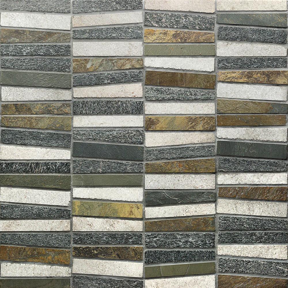 Reflection Trapezoid Multi 11 73 In X 14 29 9 Mm Quartz Mosaic Tile
