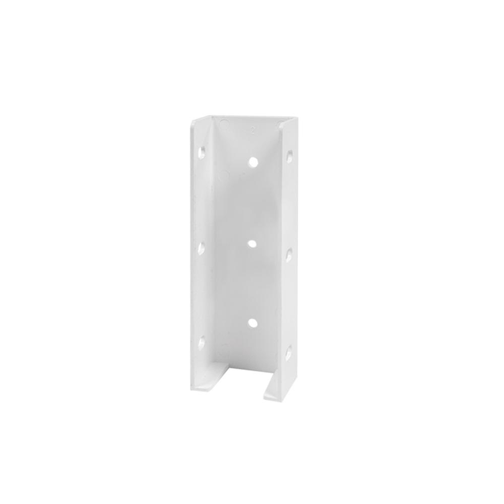Veranda Transition Fence Bracket White For 1 3 4 In X 5 1