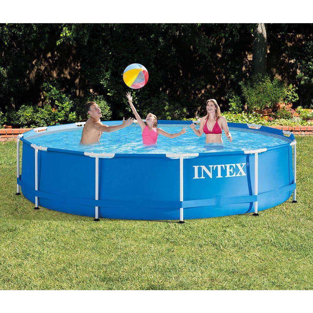 Intex 12 ft. x 30 in. Metal Frame 1718 Gal. Capacity Above Ground Pool