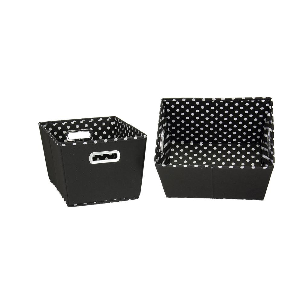 8 in. x 13 in. 2-Toned Small Tapered Bins in Black