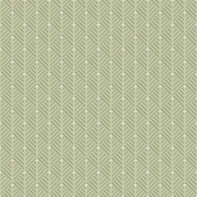 8 in. x 10 in. Opera Green Geometric Wallpaper Sample