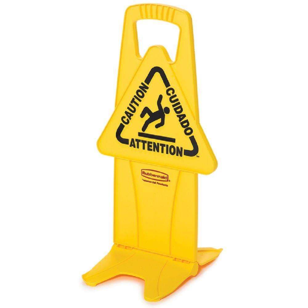 Rubbermaid Commercial Products 25 in. x 13 in. Wet Floor Caution Sign