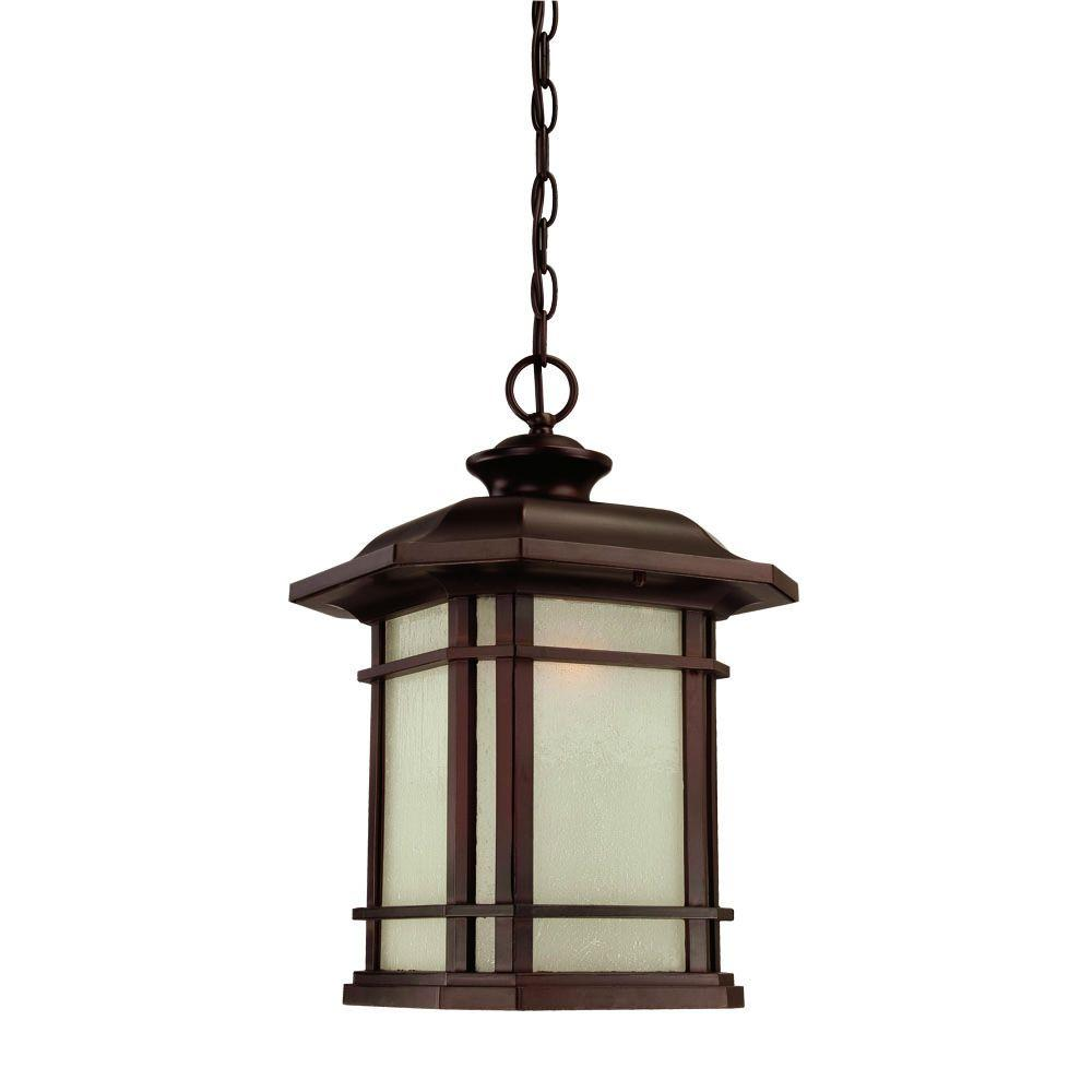 Acclaim Lighting Somerset Collection Hanging Outdoor 1-Light Architectural Bronze Light Fixture