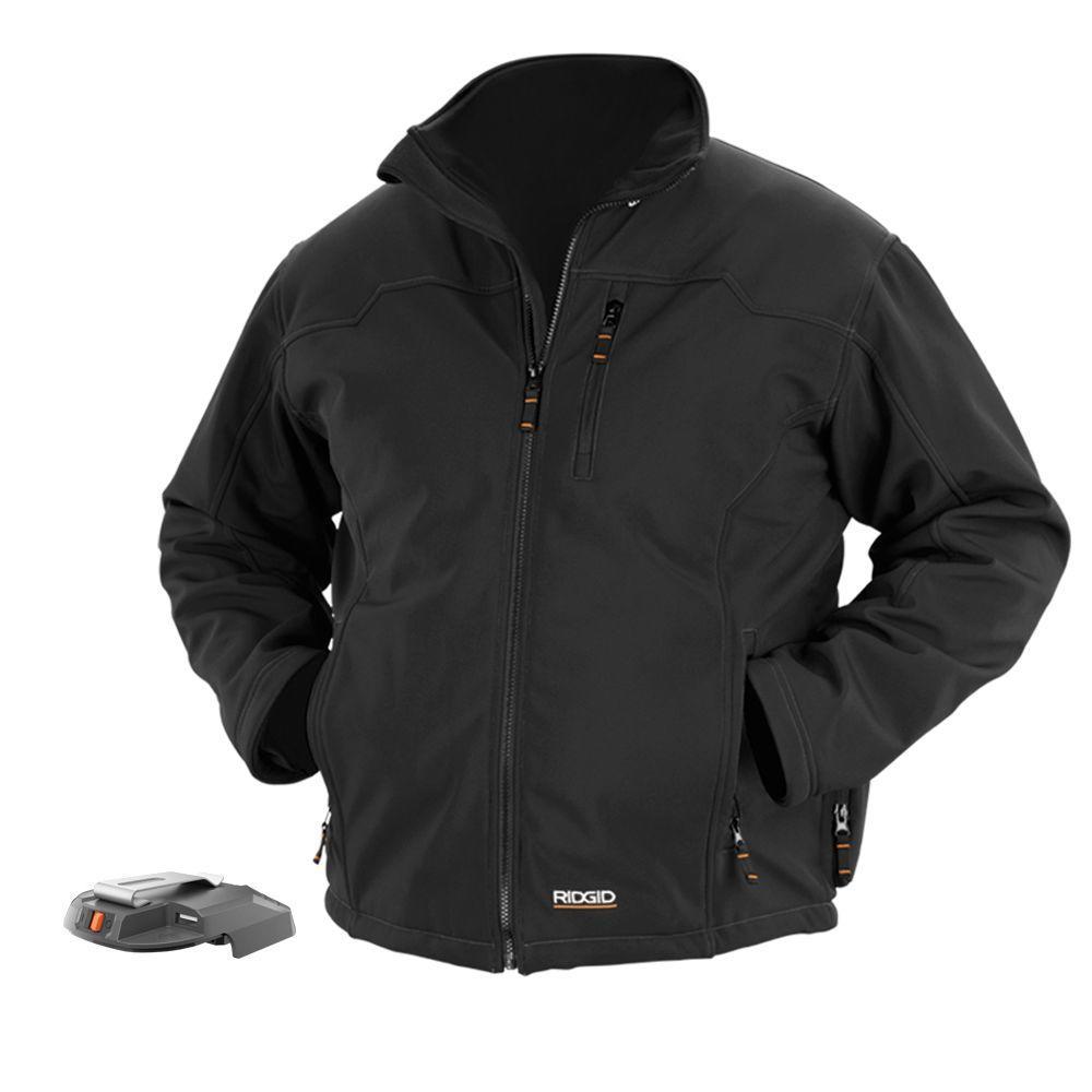 RIDGID X4 Men's Large Black Heated Jacket Bare Tool