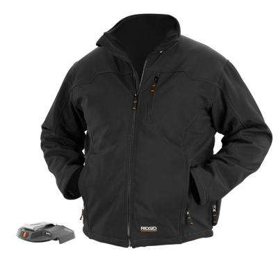 X4 Men's Large Black Heated Jacket Bare Tool