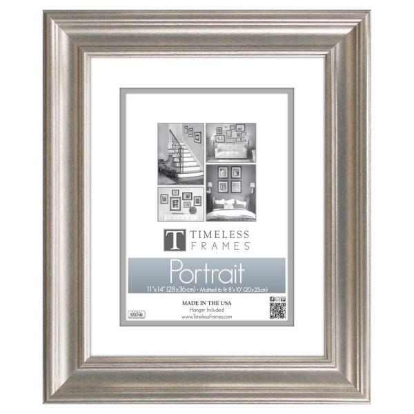 Timeless Frames Lauren 1 Opening 11 In X 14 In Silver Matted