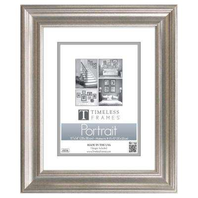 Lauren 1-Opening 11 in. x 14 in. Silver Matted Picture Frame