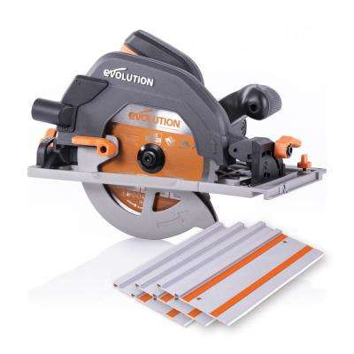 15 Amp 7-1/4 in. Circular Track Saw Kit with 40 in. Track, Electric Brake and Multi-Material Blade