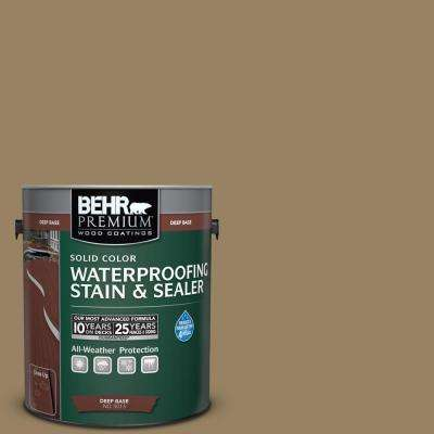 1 gal. #SC-121 Sandal Solid Color Waterproofing Exterior Wood Stain and Sealer