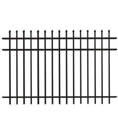 Cascade Heavy-Duty 4 ft. H x 8 ft. W Black Aluminum Pre-Assembled Fence Panel