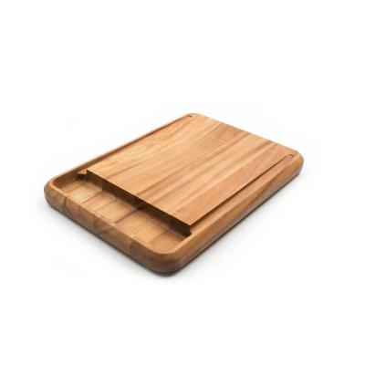 10.5 in. x 15 in. x 1.25 in. Rectangle Acacia Wood Edge Grain Cutting Board