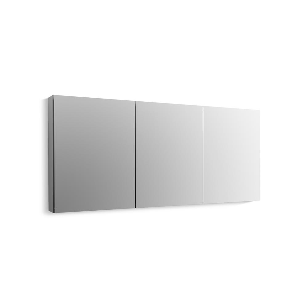 KOHLER CLC 60 in. W x 26 in. H Recessed or Surface Mount Medicine Cabinet in Adonized Aluminum