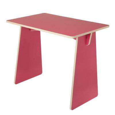 Pink Laminated Knock Down Desk