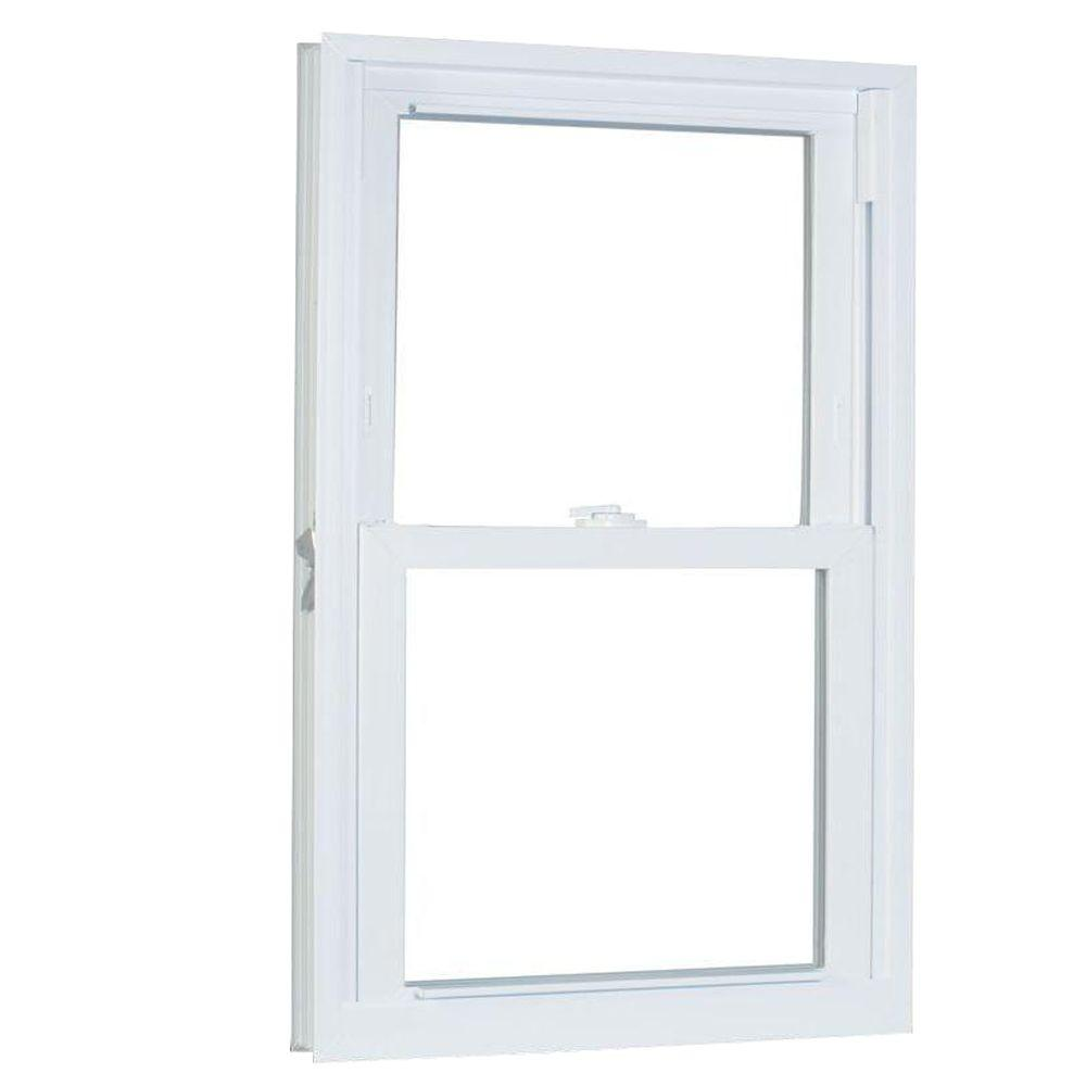 American Craftsman 27.75 in. x 61.25 in. 70 Series Pro Double Hung White Vinyl Window with Buck Frame