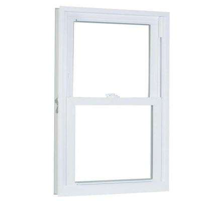 27.75 in. x 61.25 in. 70 Series Pro Double Hung White Vinyl Window with Buck Frame