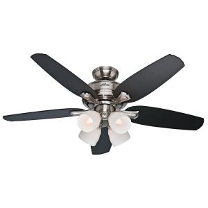 Hunter channing 52 in indoor brushed nickel ceiling fan with light hunter channing 52 in indoor brushed nickel ceiling fan with light kit 52071 the home depot aloadofball Image collections