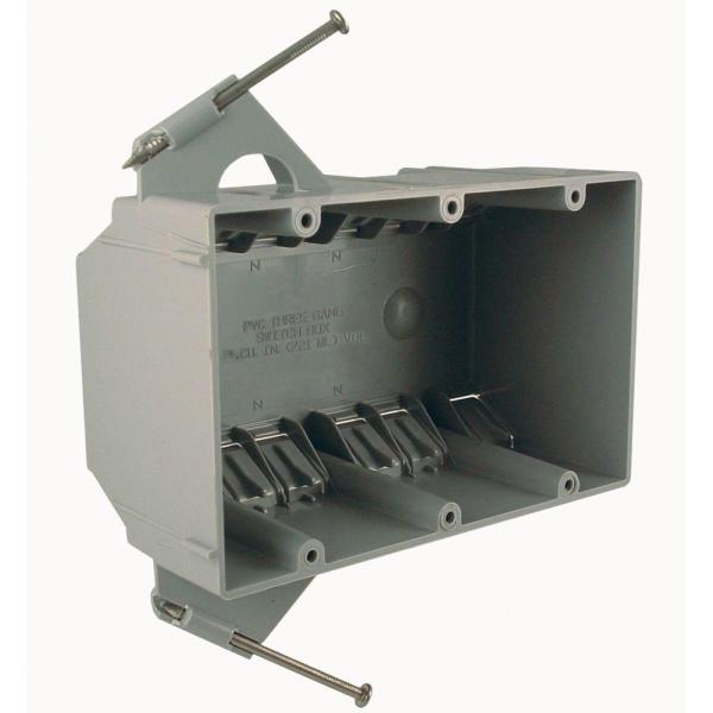 3-Gang Non-Metallic Box, 2-3/4 in. Deep (8-Pack)