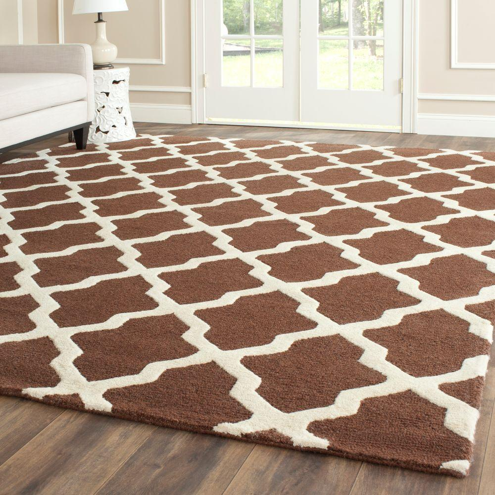 Safavieh Cambridge Dark Brown/Ivory 9 ft. x 12 ft. Area Rug