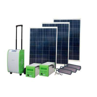 1,800-Watt Indoor/Outdoor Portable Off-Grid Solar Generator 240 Emergency Kit