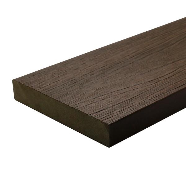 UltraShield Naturale Cortes 1 in. x 6 in. x 4 ft. Spanish Walnut Solid Composite Decking Board (4-Pack)