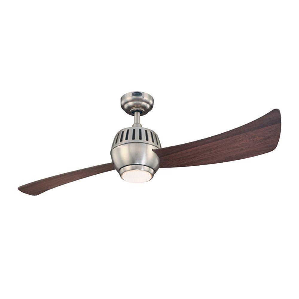Sparta 52 in. Brushed Nickel Indoor Ceiling Fan