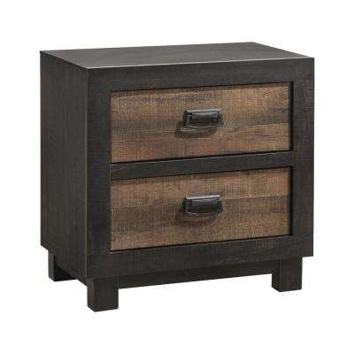 Harrison 2-Drawer Walnut Nightstand