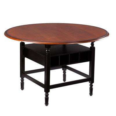 Delma Brown Mahogany and Black Dining Table