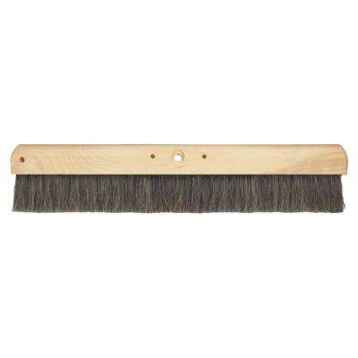24 in. Black Horsehair Concrete Finish Broom-Wood Block
